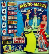 Mystic Marvel Pinball Backglass Reproduction New Roy Parker 1955