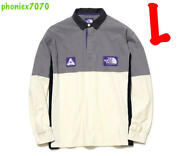 The Purple Label X Palace High Bulky Rugby Long Sleeve T-shirt Gray