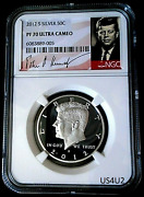 2012-s Silver Kennedy Half Dollar Ngc Pf70 Ultra Cameo Proof Kennedy Signature