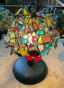 """Stained Glass Handmade Lamp Ac100v Sweet Fragrance"""" From Japan New"""
