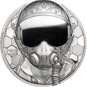 2020 Cook Islands 250 Real Heroes Fighter Pilot 1 Oz Platinum Coin - 199 Made