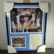Unc Tarheels And03917 National Champions Basketball Framed Photos + Roster 14 X 11