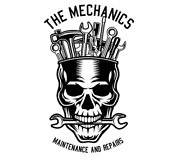 2 Pcs Vinyl Stickers Set For Car And Other Surfaces, Auto Mechanic Skull, Tools