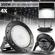 4x 300w Ufo Led High Low Bay Light Factory Industrial Warehouse Shed Lighting