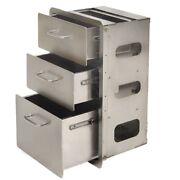 Global Frame Boat 3-drawer Storage Cabinet Gf-4   Stainless Steel