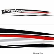 Tracker Boat Decal 142771 | 109 X 12 7/8 Inch Blk/red/gray/white Single