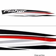 Tracker Boat Decal 142771   109 X 12 7/8 Inch Blk/red/gray/white Single