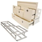 Scout Boat Tackle Station Dh1089   345 White 4 Drawer Storage W/ Frame