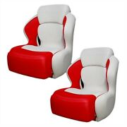 Sea Doo Brp 230 White / Red Boat Bolster / Bucket / Drivers Seats Pair