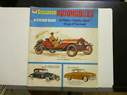 Discover Automobiles A Sticker Book. Antique, Classic, Racers. Whitman 1976