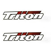 Triton Boat Decal 1896841 | 30 5/8 X 5 3/4 Inch White Red Black Pair