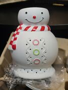 Partylite Scentglow Icy Snowman Warmer Room Fragrancer -retired In Box