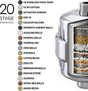 20 Stage Universal Shower Filter With Vc More Efficient For Hard Water Softener