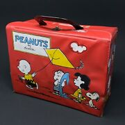 Peanuts Lunchbox Charlie Brown Lucy Snoopy Kite Schulz 1950's - Vintage - Rare