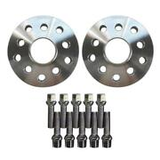 2 15mm 5x100 / 5x112 Hubcentric Wheel Spacers Adapters For Vw Audi 57.1mm Bore