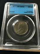1912 Cccs Graded Canadian Andcent25 Cent Ms-64