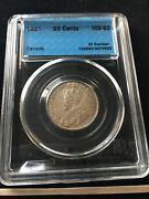 1921 Cccs Graded Canadian Andcent25 Cent Ms-63