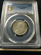 1928 Pcgs Graded Canadian Andcent25 Cent Ms-62