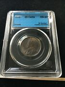 1935 Cccs Graded Canadian ¢25 Cent Ms-63