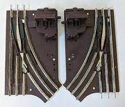 Lionel O27 027 Gauge Manual Switches, Left And Right Hand Track 6-5021 6-5022