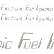 Malibu Electronic Fuel Injection Silver 13 1/4 X 1 1/2 Inch Boat Decals Pair