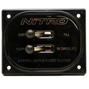 Nitro Boat Livewell Toggle Switch Panel 62522   4 1/2 X 3 1/2 Inch