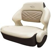 Chaparral Boat Helm Seat 31.00726   307 Ssx Cream Brown Wide Bolster