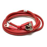Custom 144 Inch Red 2/0 Awg Boat Crank Battery Cable With 3/8 Inch Lug And Boot