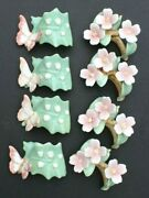 Lot Of 8 Vintage 1986 Pia Bone China Butterfly Flower Table Napkin Rings Holders
