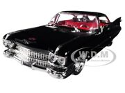 1959 Cadillac Coupe Deville Black 1/24 Diecast Model Car By Jada 99989