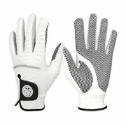 Menand039s Soft Breathable Golf Gloves Pure Sheepskin Anti-slip Granules Wearable New