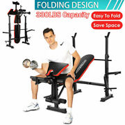 Olympic Weight Benches Adjustable Strength Training Full Body Workout 330lb Load
