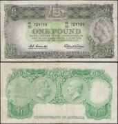 Australia - 1 Pound Nd 1953-1960 Km 30a Oceania Banknote - Edelweiss Coins