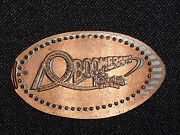 Vintage Elongated Souvenir Copper Penny Boomerang Knotts Berry Farm