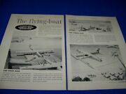 1955 Saunders-roe Princess The Flying Boat..2-page Sales Ad 39z