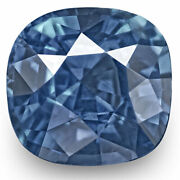 Grs Certified Sri Lanka Blue Sapphire 1.70 Cts Natural Untreated Blue Cushion