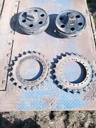 Daewoo Dh150 Digger 2 X Sprockets And 2 X Idlers