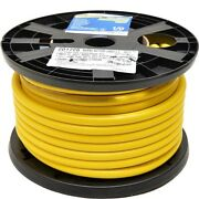 Smart Boat Marine Grade Battery Cable | 1/0 Awg Yellow 100 Ft Tinned