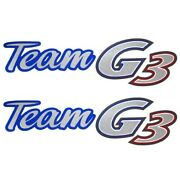 G3 Boat Brand Decals B0913 | 11 3/4 X 3 1/4 Inch Blue Red Pair