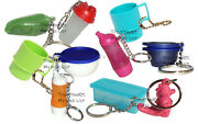 Tupperware Mixed Lot Of 10 Keychains Some Rare Fun Sized Mini Gadgets New Lot R2