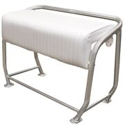 Boat Leaning Post Seat | White Aluminum 42 1/2 X 21 X 33 Scratches