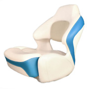 Chaparral Boat Captains Helm Seat 31.00167 | Bolster Off White Blue