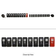 Carling 24 Pc Rocker Switch And Breaker Set 12v Power And Boat Ignition Switch