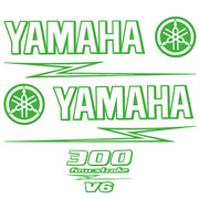 Yamaha Boat Cowling Decal | Hydrasports 300 Hp Four Stroke V6 3 Pc Kit