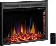 36 Electric Fireplace Insert ,recessed Electric Stove Heater,touch Screen