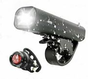 Flashlight Safety Tail Light Bicycle Handlebar Front Lamp Headlight Rechargeable