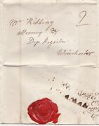 1784 Newport Isle Of Wight 2/line Pmk Letter I Edwards Ridding Winchester Iow