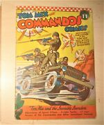 Tom Mix Commandos 11 Golden Age Wwii Cover
