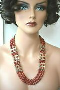 Anthony Tony Aguilar Kewa Santo Domingo Sterling Silver Bench Bead Necklace