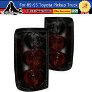 Black/smoke Tail Lights For 89-95 Toyota Pickup Truck Replace Factory Rear Lamp